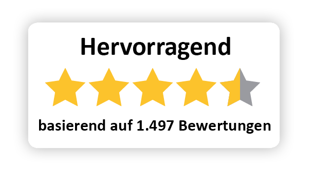 Logo 4,5 Steren Zufriedenheit